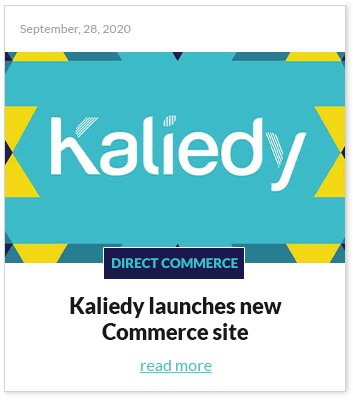 Kaliedy launches new Commerce site