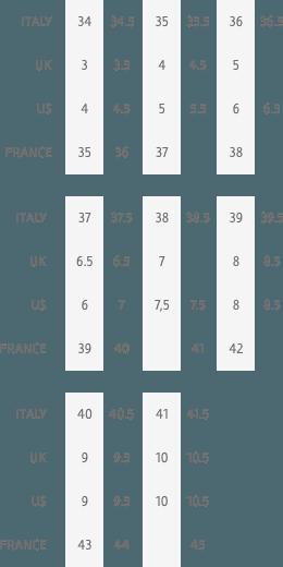 Size chart - scarpe