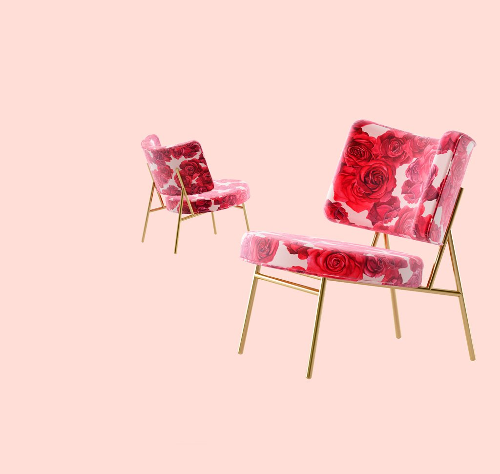 <strong>BLUMARINE for CALLIGARIS</strong><br /><br />Blumarine meets Calligaris and interprets the Coco armchair with the signature flower of the maison, the rose.<br />Design: Busetti, Garuti, Redaelli