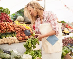Doing your grocery shopping at the market can help you save money.