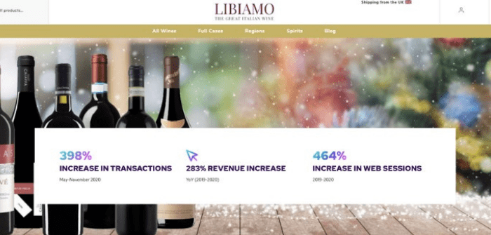 Libiamo Wines experiences 398% sales increase following Kooomo implementation
