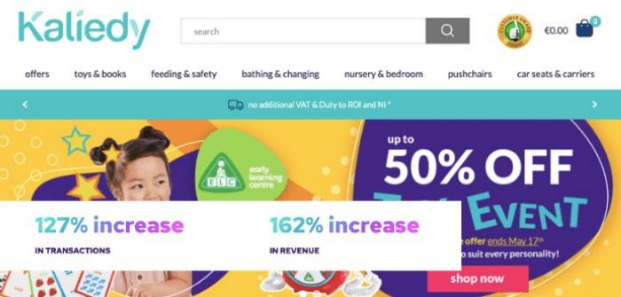 Kaliedy's website launch via Kooomo achieves monumental eCommerce success