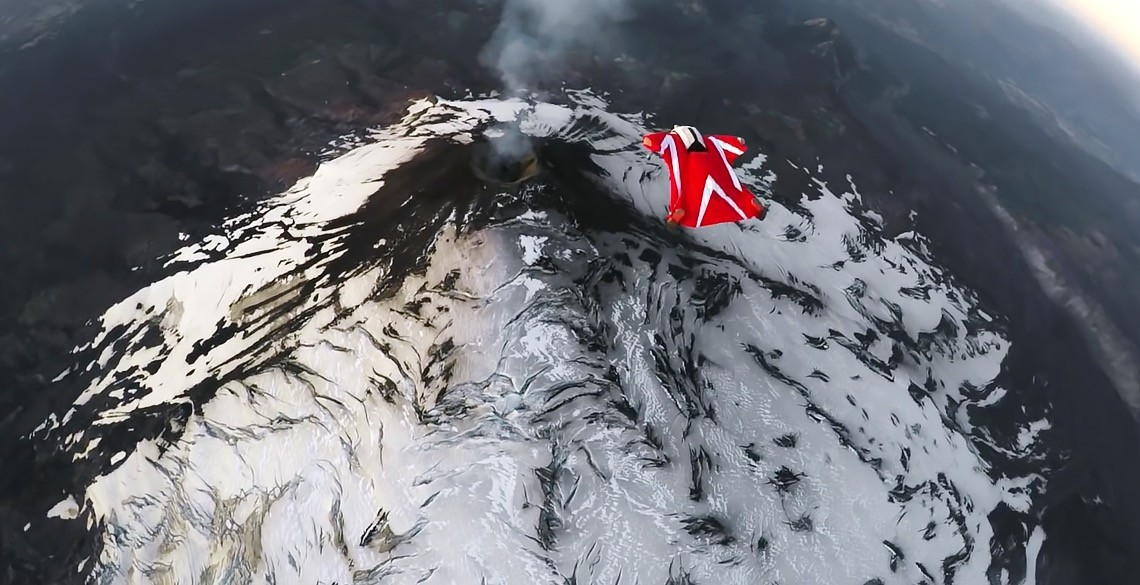 Roberta Mancino's Wingsuit Flight Over An Active Volcano