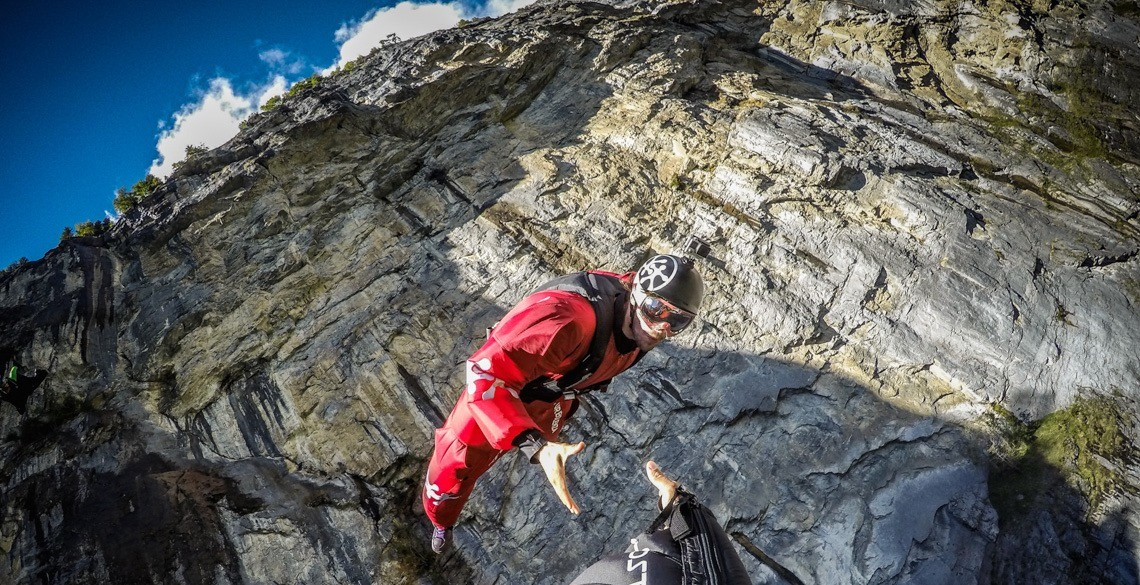René Base-jumping in Switzerland