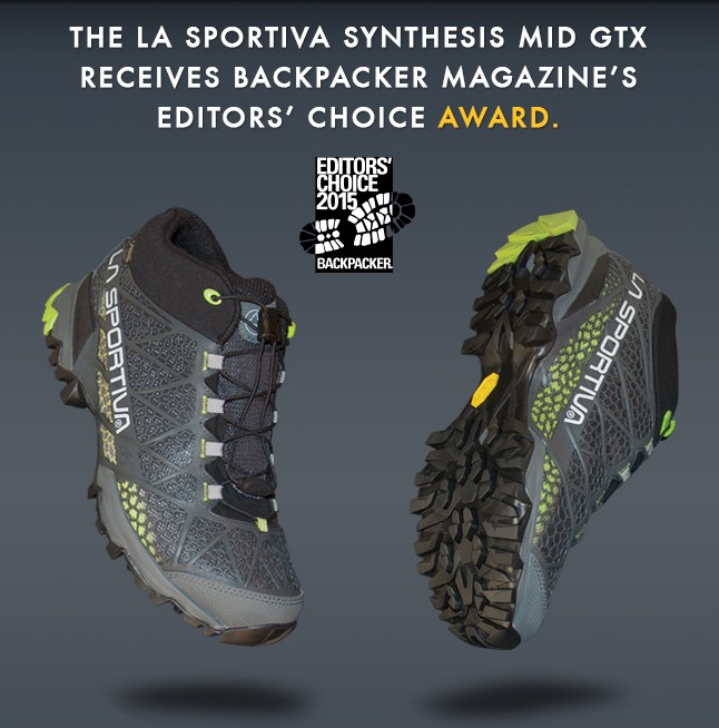 b5518e606a8 Hiking: La Sportiva Synthesis GTX shoe get the Backpacker's editor ...