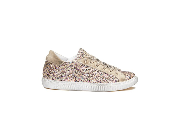 TAUPE MULTICOLOUR  GLITTER LOW SNEAKERS