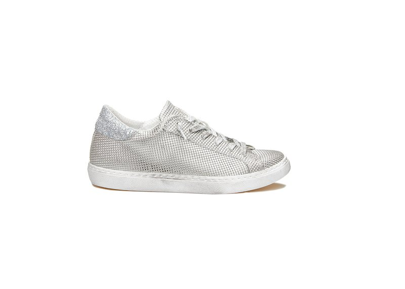 WHITE ANS SILVER LOW SNEAKERS