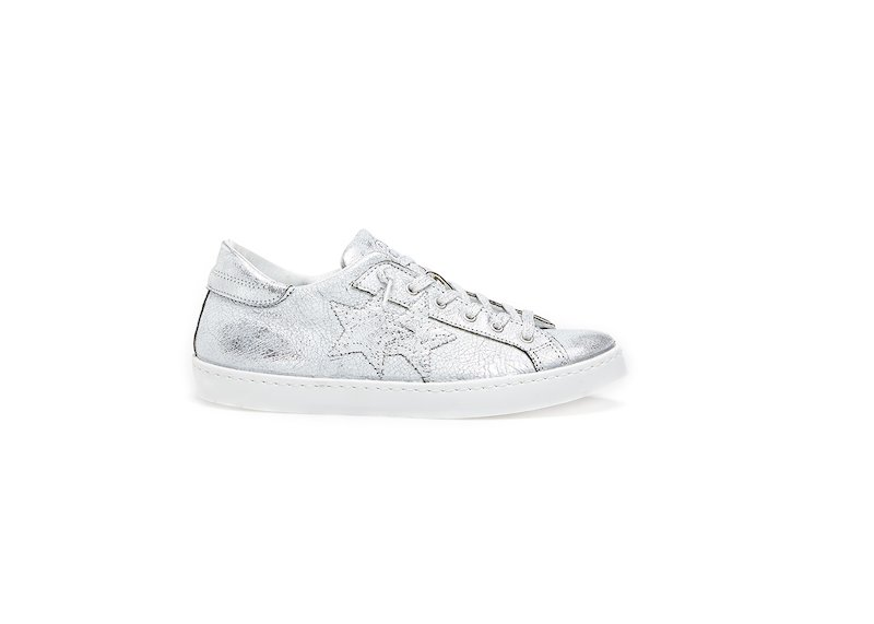 SILVER LOW SNEAKERS