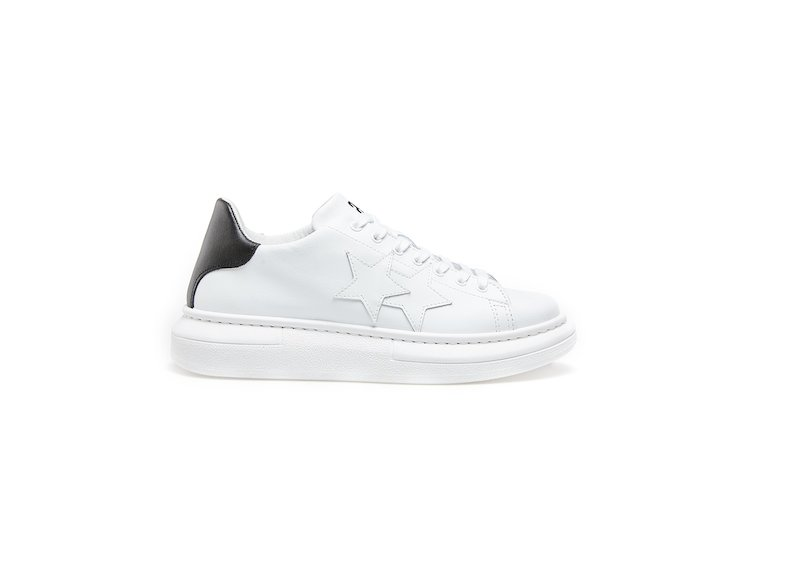 WHITE-BLACK LOW SNEAKERS