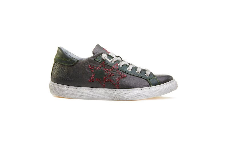 LOW SNEAKER ANTHRACITE-DARK GREEN