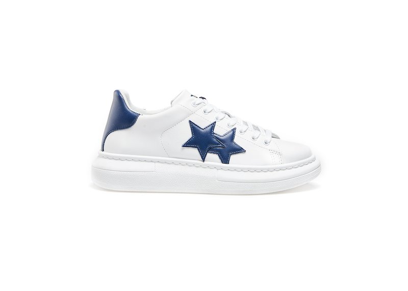 WHITE-BLUE LOW SNEAKERS