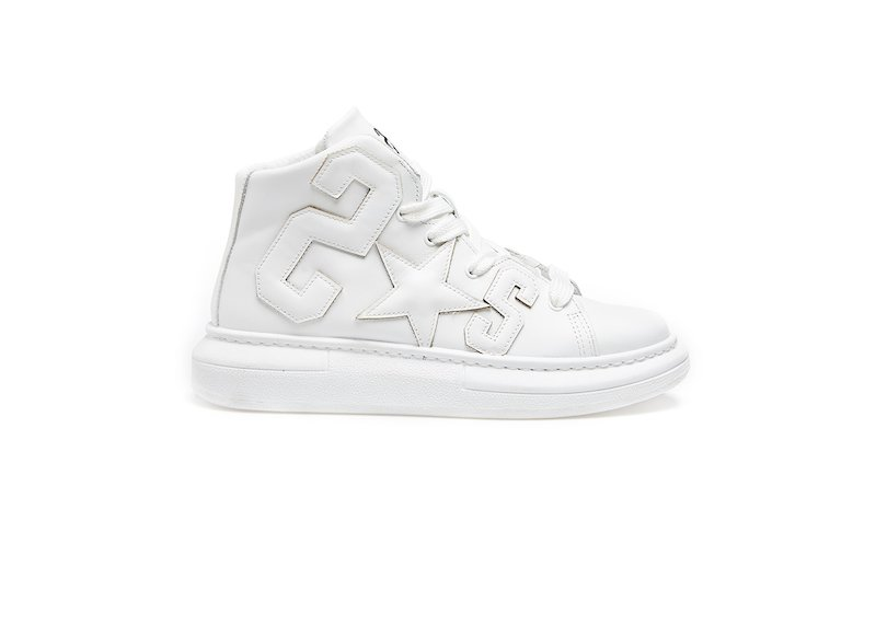 WHITE HIGH SNEAKERS 2*S