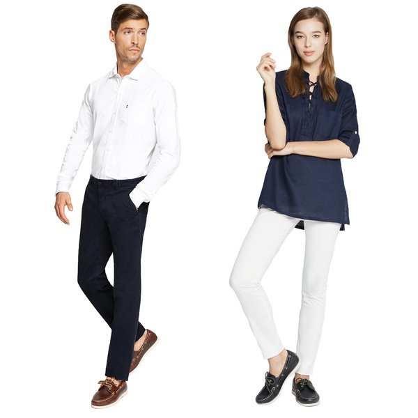Two iconic nautical<br>items of casual fashion