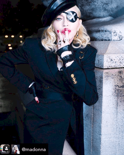 Madonna wearing my 'Haylee' cuffs for her New York Promotional tour