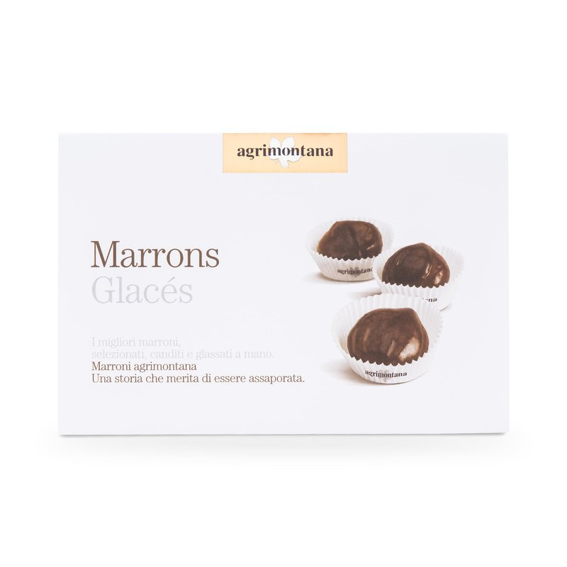 Marrons glacés - glazed chestnuts in paper cups