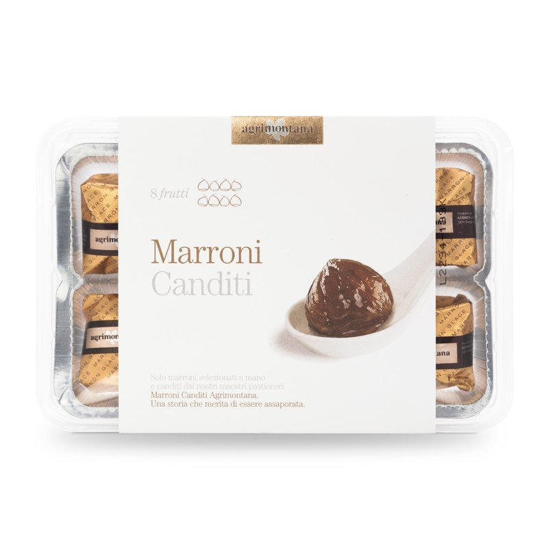 MARRONS GLACÉS Candied Chestnuts - Foil Wrapped