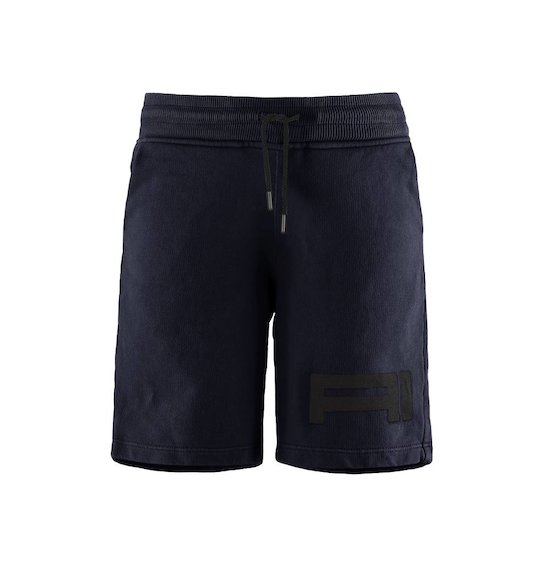 Fleece shorts with logo