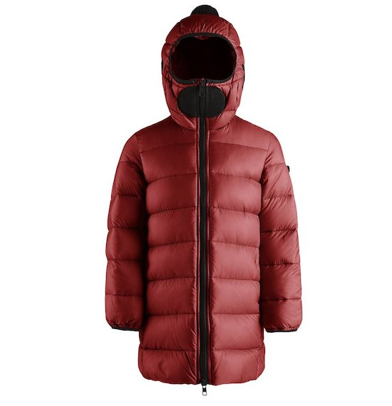 Long down jacket nylon ripstop