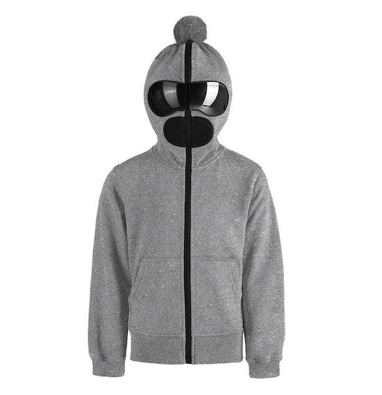Unisex hoodie in cotton fleece