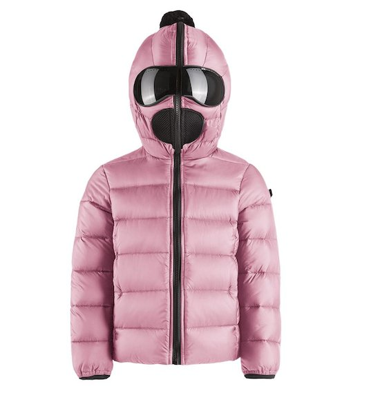 Down jacket nylon ripstop with built-in lenses
