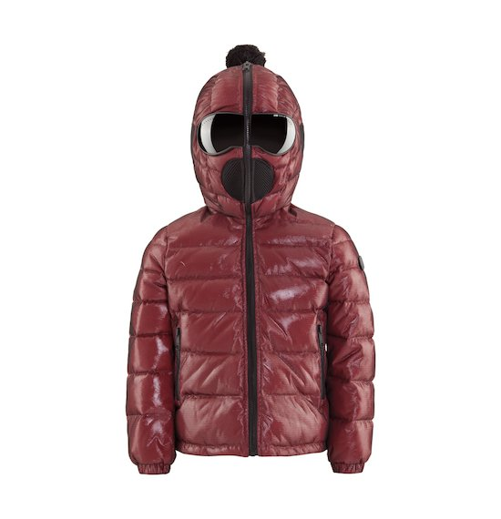 Laqué Down Jacket with Black Mesh