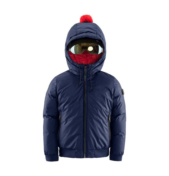 Padded Jacket with Built-in Lenses