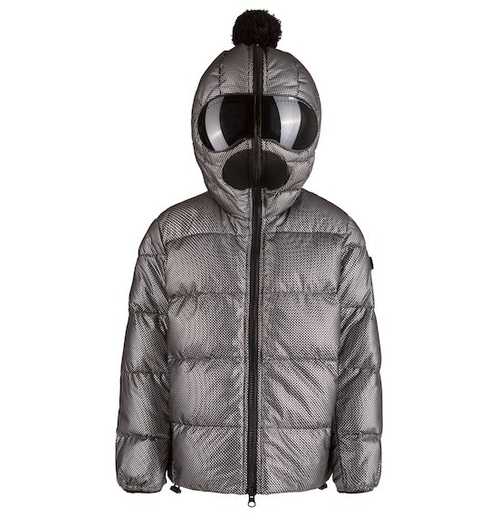 Down jacket with silver coating