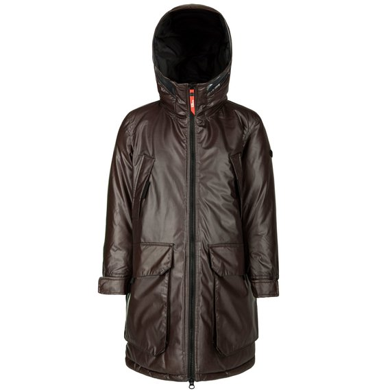 Boy's parka in heat reactive nylon