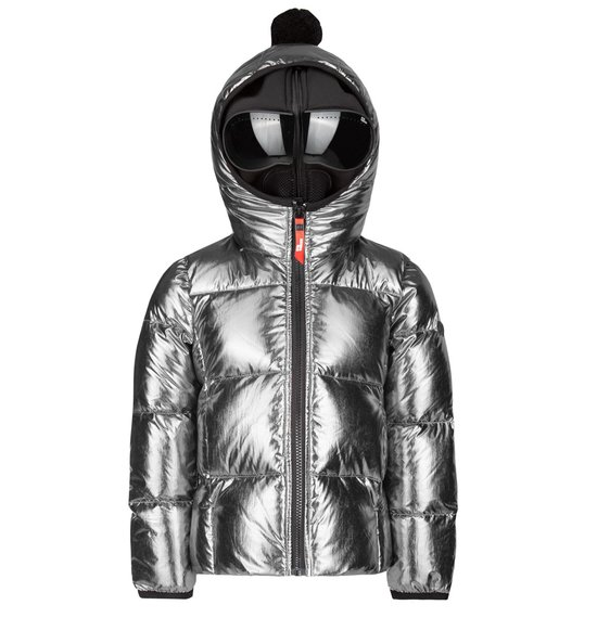 Girl's down jacket in metal foil  nylon