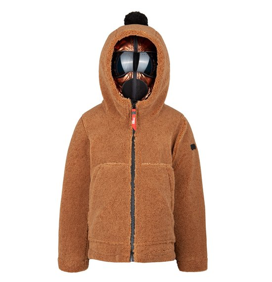Girl's coat in sherpa fleece