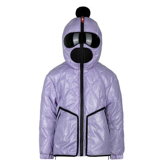 Girl's Jacket in Glossy Crinkle Nylon