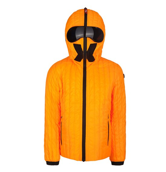Boys' jacket neon colour in polyester micro-ripstop