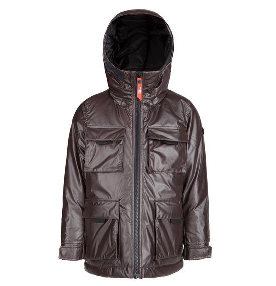Boy's coat in heat reactive nylon