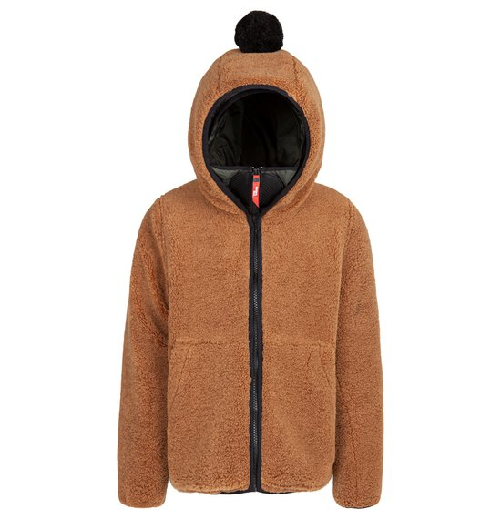 Boy's coat in sherpa fleece