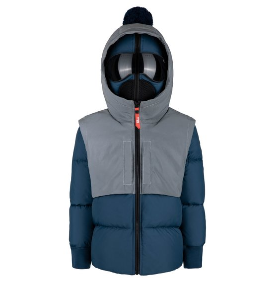 Boy's Down Jacket in Reflective Fabric
