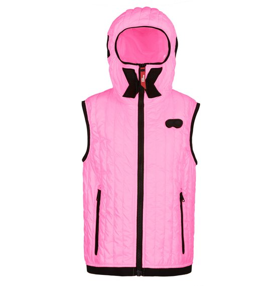 Vest neon colour in polyester micro-ripstop