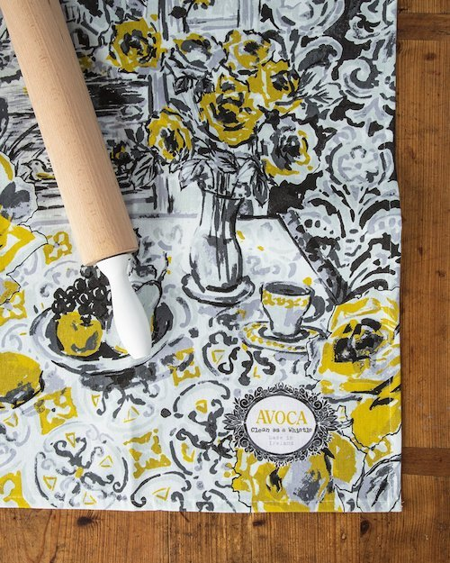 Yellow Rose Tea Towel