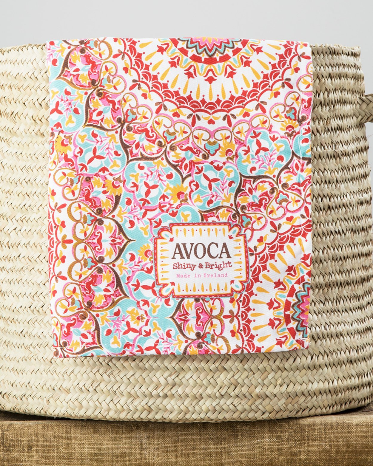 Kaleidoscope Yellow Tea Towel