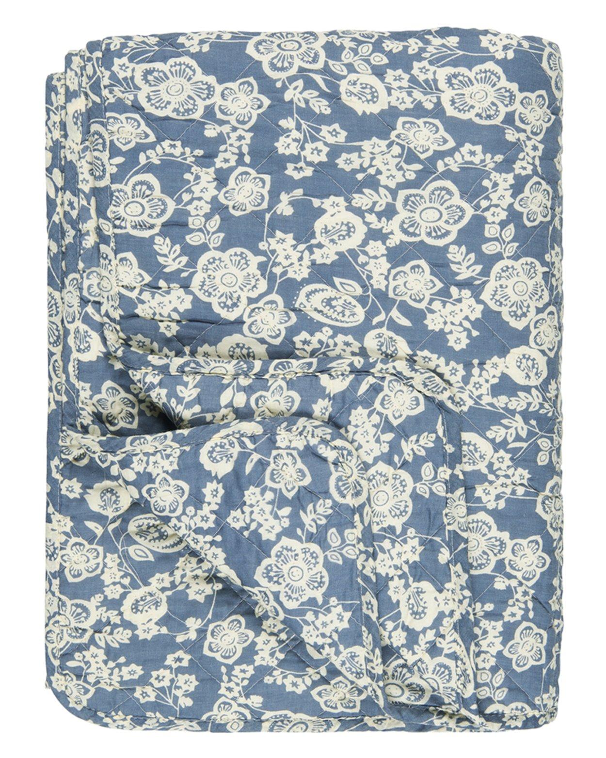 Blue Floral Cotton Quilt