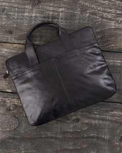 Saddler Leather Laptop Bag in Black