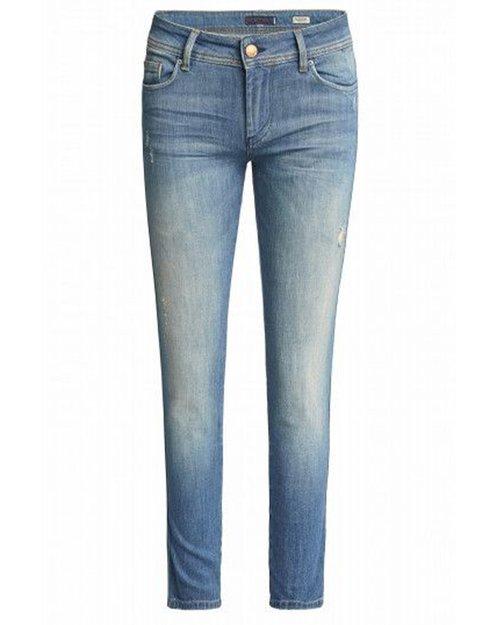Colette Capri Jeans with Detail - Medium Dark