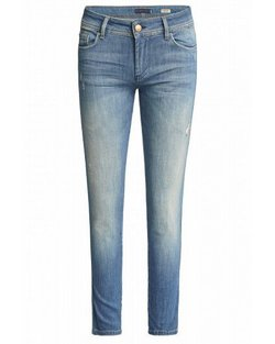 Colette Capri Jeans with Detail - Medium Dark