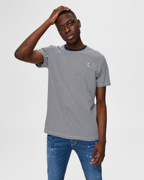 Wayne Stripe Organic Cotton T-Shirt
