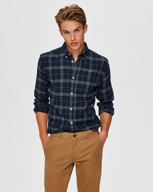 Slim Flannel Shirt