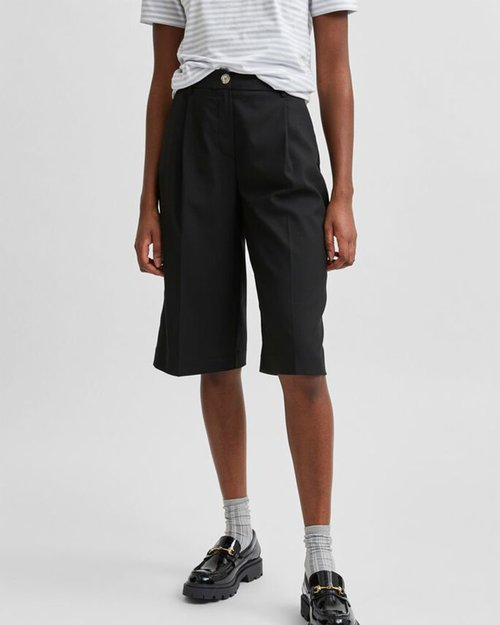 Pas Mid Waist Long Shorts