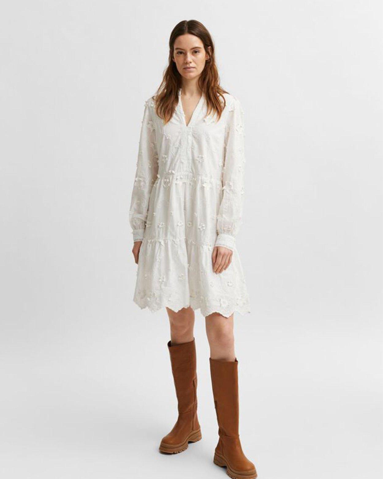 Appliqué Short Dress