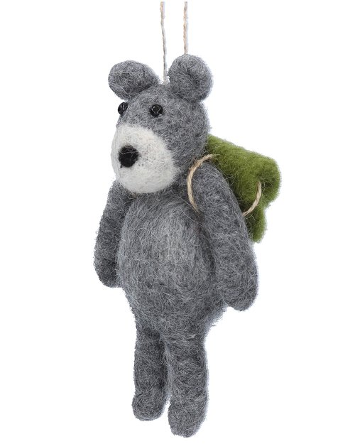 Grey Teddy with Rucksack