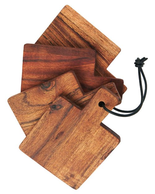 Oiled Acacia Wood Cutting Board Set