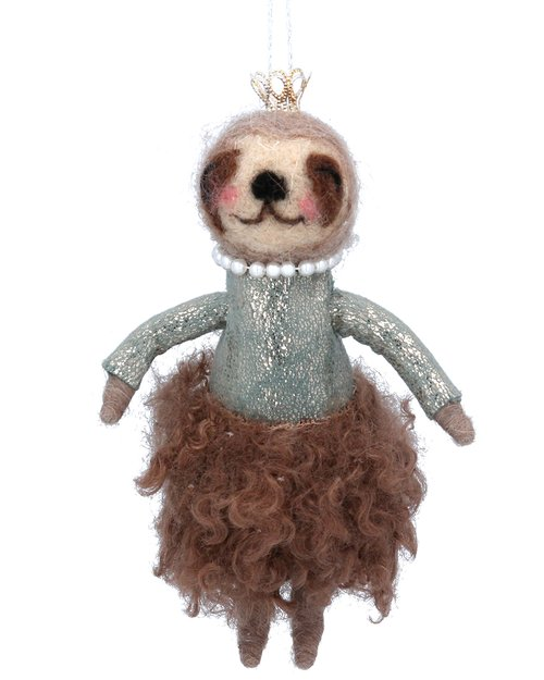 Sloth with Dress & Pearls