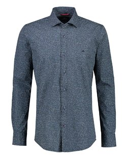 Shark Collar Print Shirt